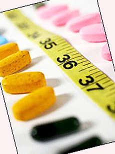 Таблетки для похудения.